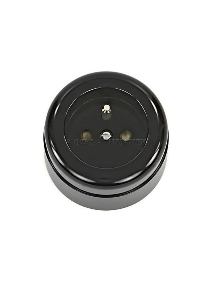 Bakeliet stopcontact opbouw - THPG stopcontact - Retro stopcontact
