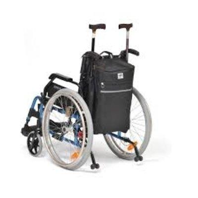 rolstoel / scootmobieltas met krukhouder
