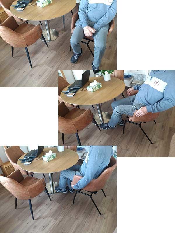 draai schuif stoel in actie in de praktijk