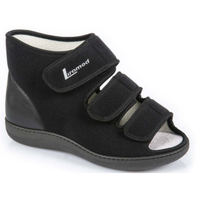 Liromed Open verbandschoen Zwart Linker schoen