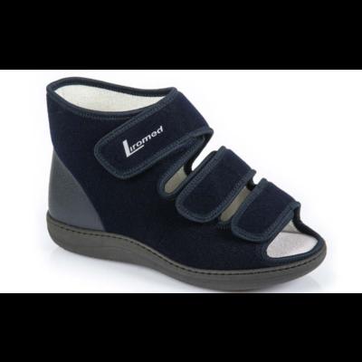 Liromed Open verbandschoen Marina blauw Linker schoen