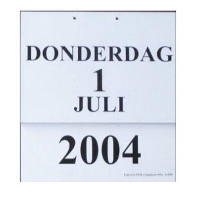 Grootletter dagkalender A4 2016
