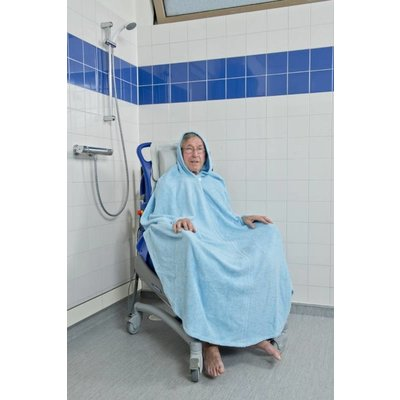 Badjas met capuchon rolstoel