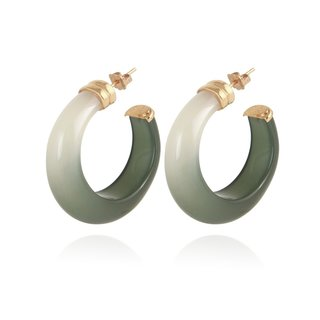 Abalone Hoop acetate gold - Green