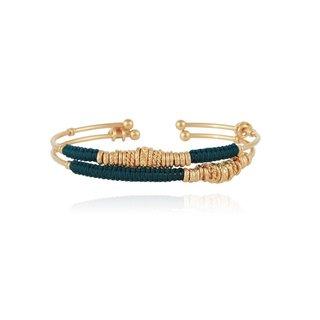 2 Zizanie Bangles Bracelet Gold