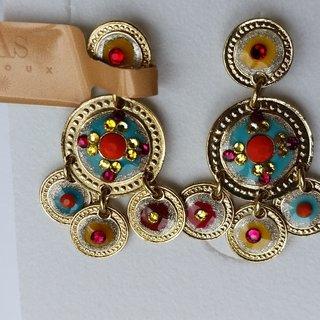 Arlequin earrings gold
