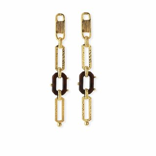 Escale Earrings Gold Black