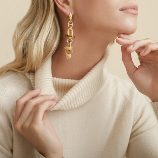 Prato Ohrringe groß size acetate gold