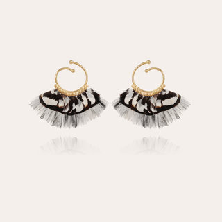 Buzios hoop earrings mini gold