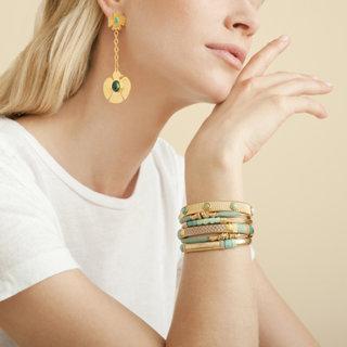 Santa Eagle earrings gold