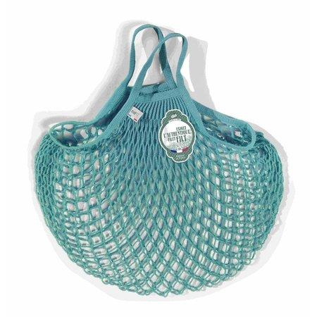 Boodschappentasje met handvatten azur
