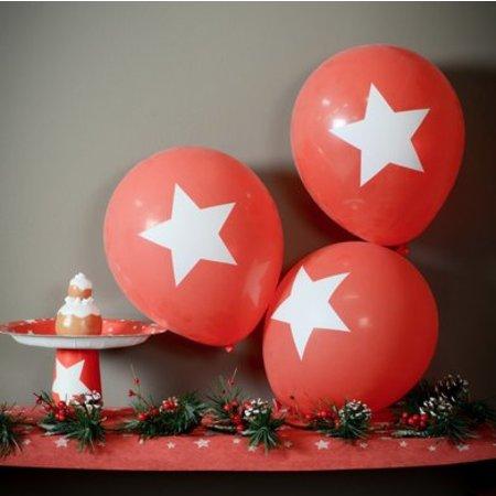 Rode ballonnen ster