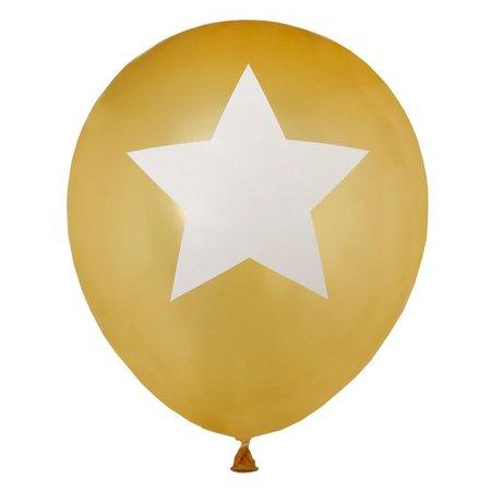 Gouden ballonnen ster
