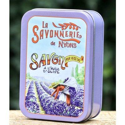 Blik zeep groot Lavendel