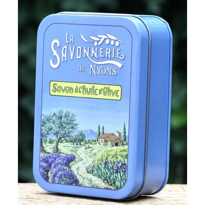 Blik zeep groot Provence