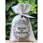 Herbes de Provence in stoffen zakken