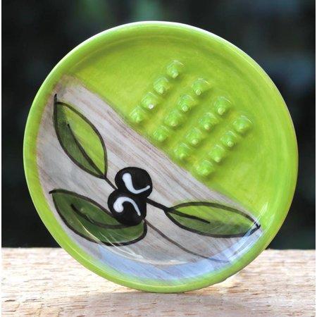Knoflookrasp groen met olijvendecor