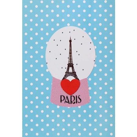 Ansichtkaart sneeuwbol met Eiffeltoren