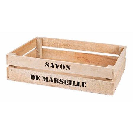 Grote houten kist Savon de Marseille