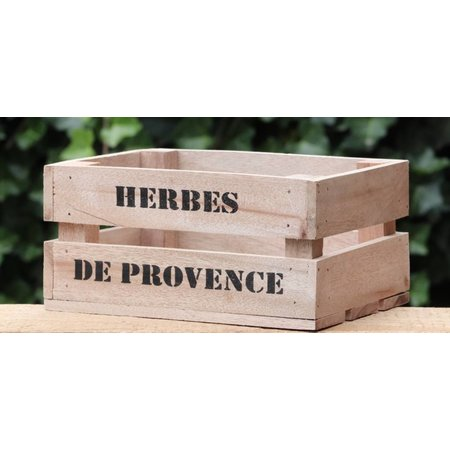 Houten kistje Herbes de Provence klein