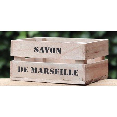 Houten kistje Savon de Marseille