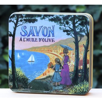 Savonnerie de Nyons Blik 4 zepen Côte d'Azur