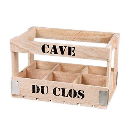 Kistje voor 6 wijnflessen