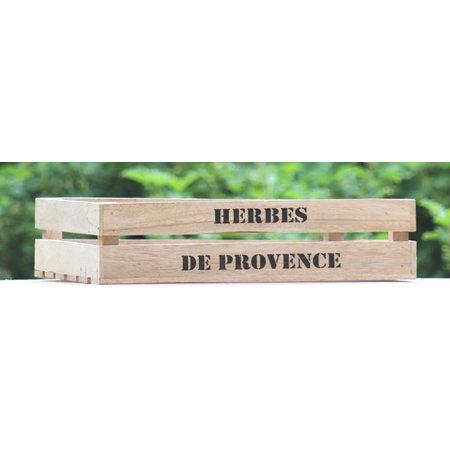 Grote houten kist Herbes de Provence