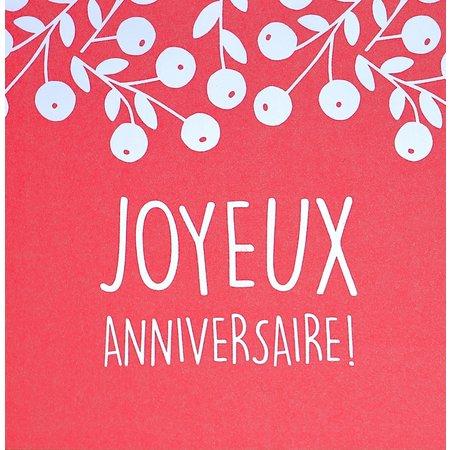 Franstalige wenskaart verjaardag