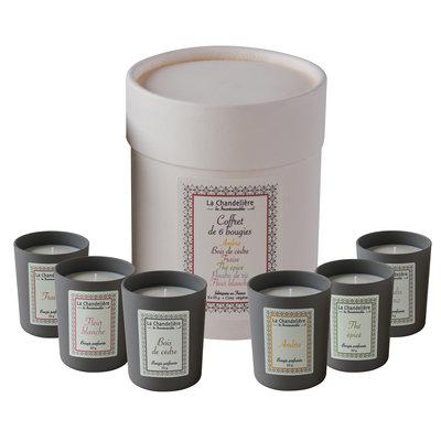 6 geurkaarsjes parfum
