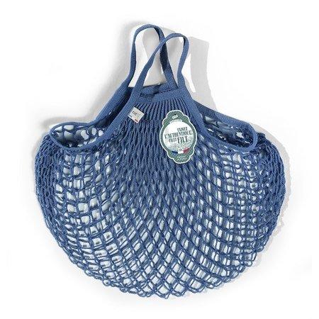 Nettasje met handvatten jeansblauw