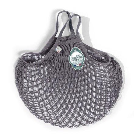 Boodschappennetje met handvatten grijs