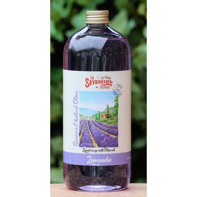 Literfles zeep lavendel