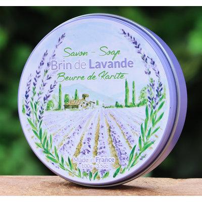 Ronde zeep lavendel