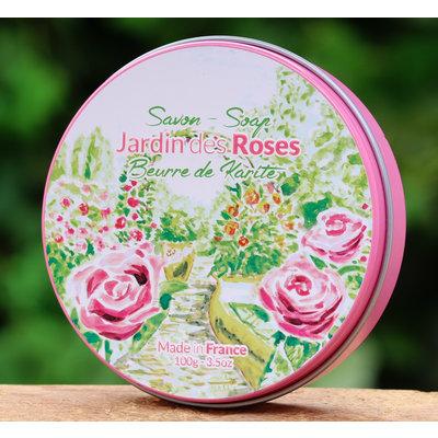 Ronde zeep rozen
