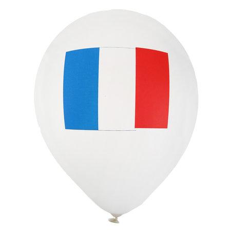 Ballonnen met de Franse vlag