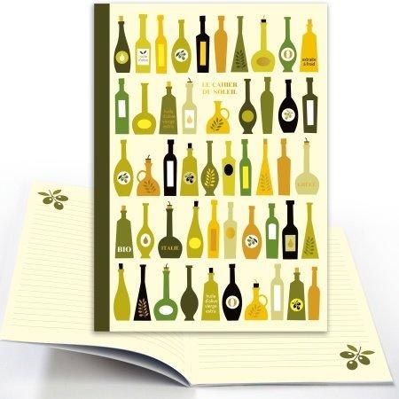 Schrift met dessin van olijfolie