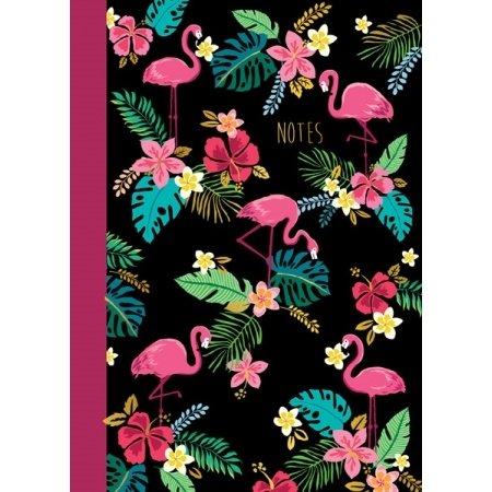 Schrift met roze flamingo's