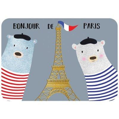 Ansichtkaart bonjour