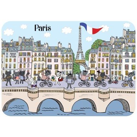Ansichtkaart fietsende poezen