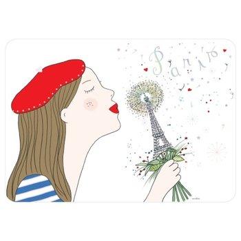 Cartes d'Art Paris Placemat Parisienne