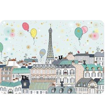 Cartes d'Art Paris Placemat poezen Parijs