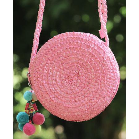 Klein rond tasje Sabine roze