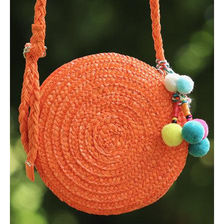 Klein rond tasje Sabine oranje