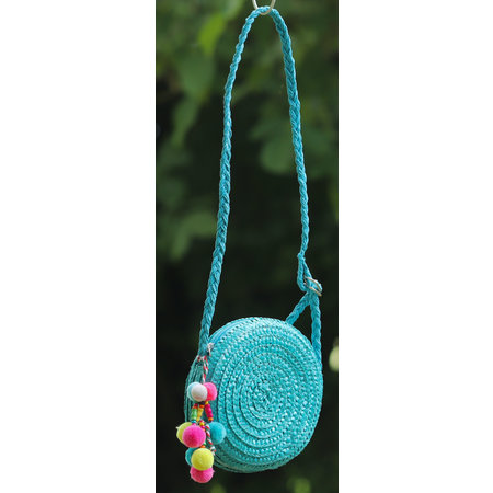 Klein rond tasje Sabine turquoise