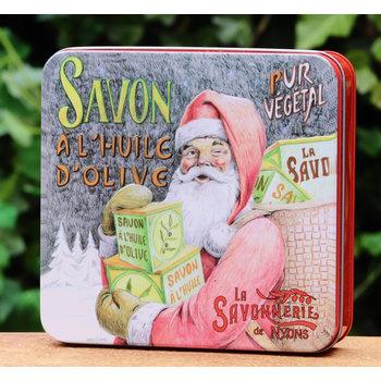 Savonnerie de Nyons Blik 4 zepen kerstman