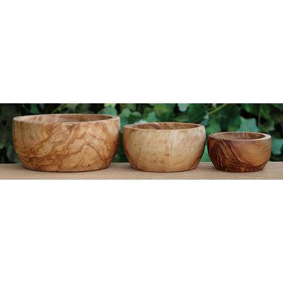 Set schaaltjes olijvenhout