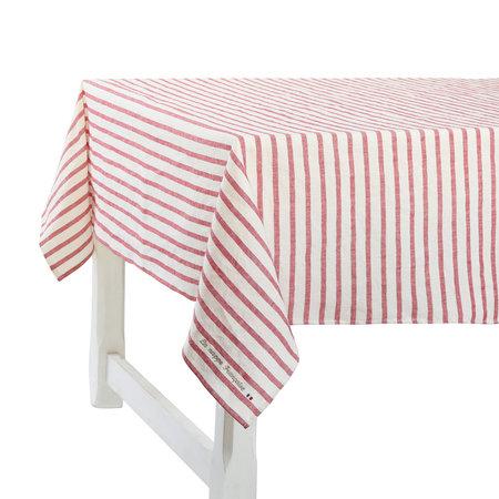 Frans tafelkleed met rode strepen