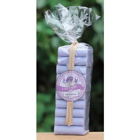 Pakje met 10 gastenzeepjes lavendel