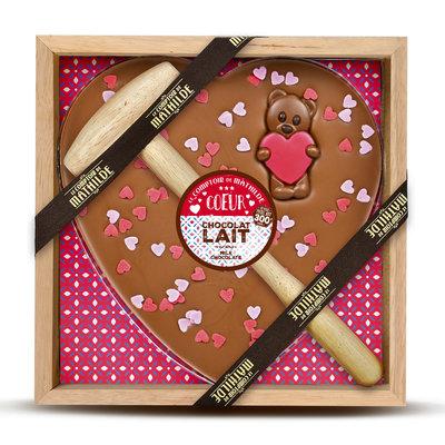 Kistje chocolade hart
